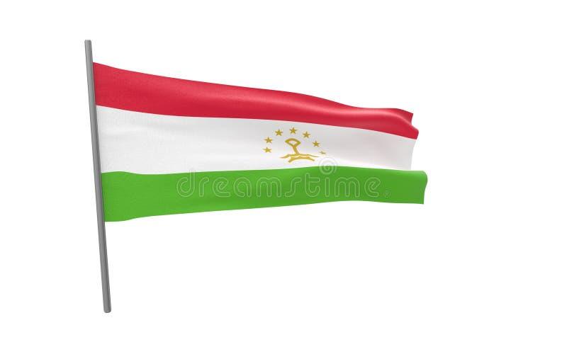 Σημαία του Τατζικιστάν στοκ εικόνα