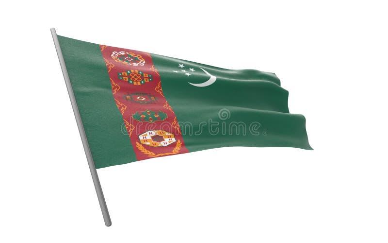 Σημαία του Τουρκμενιστάν στοκ φωτογραφία