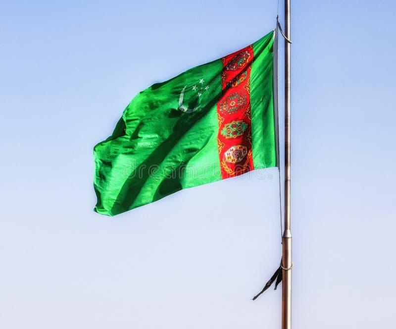 Σημαία του Τουρκμενιστάν στοκ εικόνα