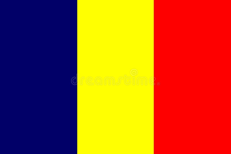σημαία του Τσαντ απεικόνιση αποθεμάτων