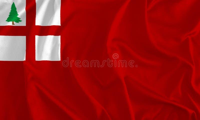 Σημαία του υποβάθρου της Νέας Αγγλίας διανυσματική απεικόνιση