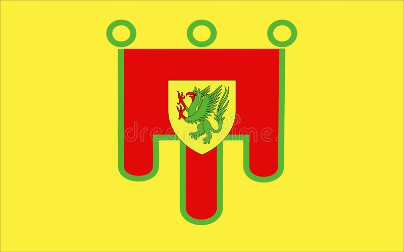 Σημαία του puy-de-θόλου, Γαλλία στοκ εικόνα με δικαίωμα ελεύθερης χρήσης