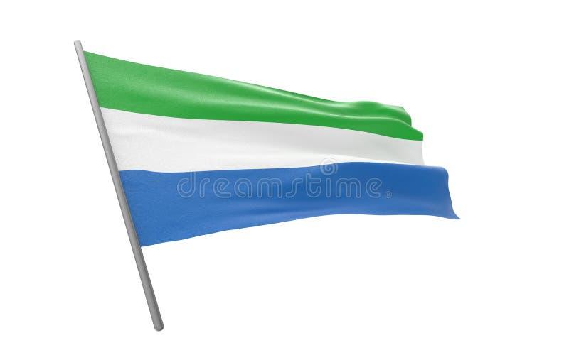 Σημαία του Sierra Leone στοκ φωτογραφίες