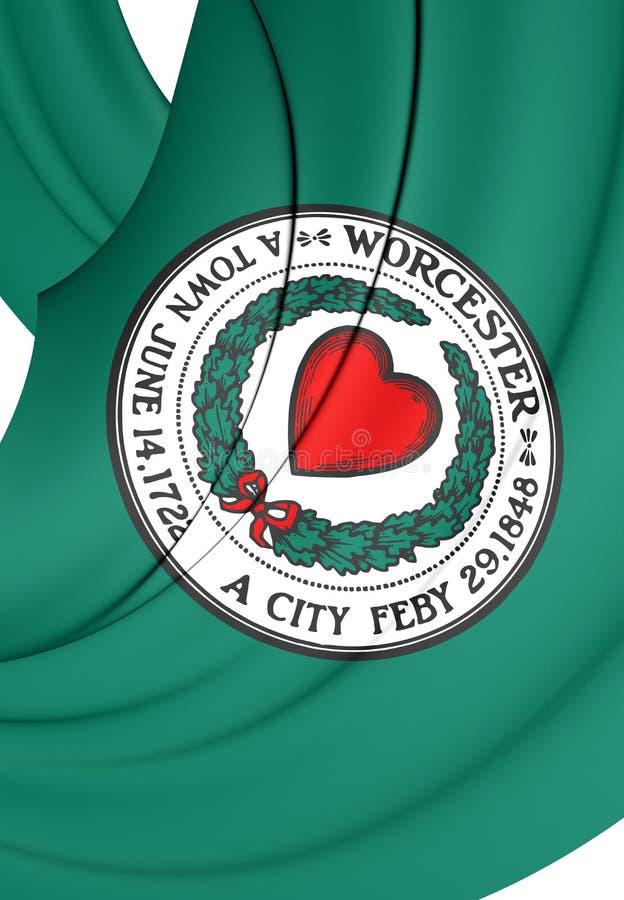 Σημαία του Worcester & x28 Massachusetts& x29 , ΗΠΑ απεικόνιση αποθεμάτων