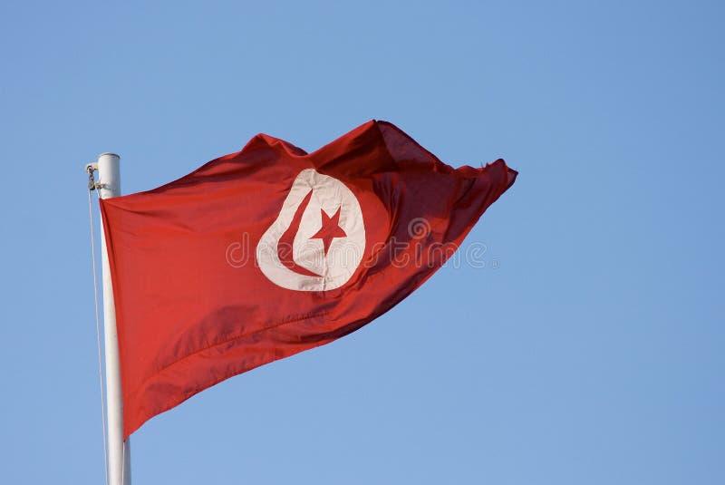 σημαία Τυνήσιος στοκ φωτογραφίες με δικαίωμα ελεύθερης χρήσης