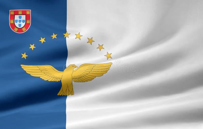 σημαία των Αζορών διανυσματική απεικόνιση