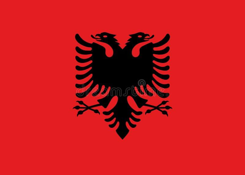 Σημαία των επίσημων χρωμάτων της Αλβανίας και των αναλογιών, διανυσματική εικόνα στοκ φωτογραφία
