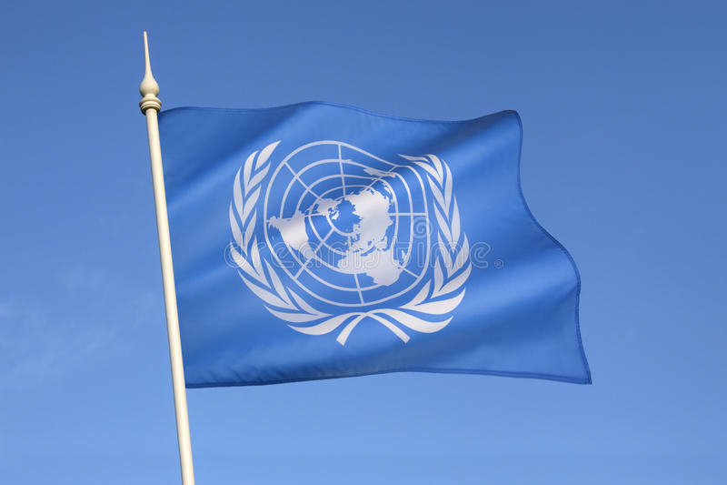 Σημαία των Ηνωμένων Εθνών στοκ φωτογραφία με δικαίωμα ελεύθερης χρήσης
