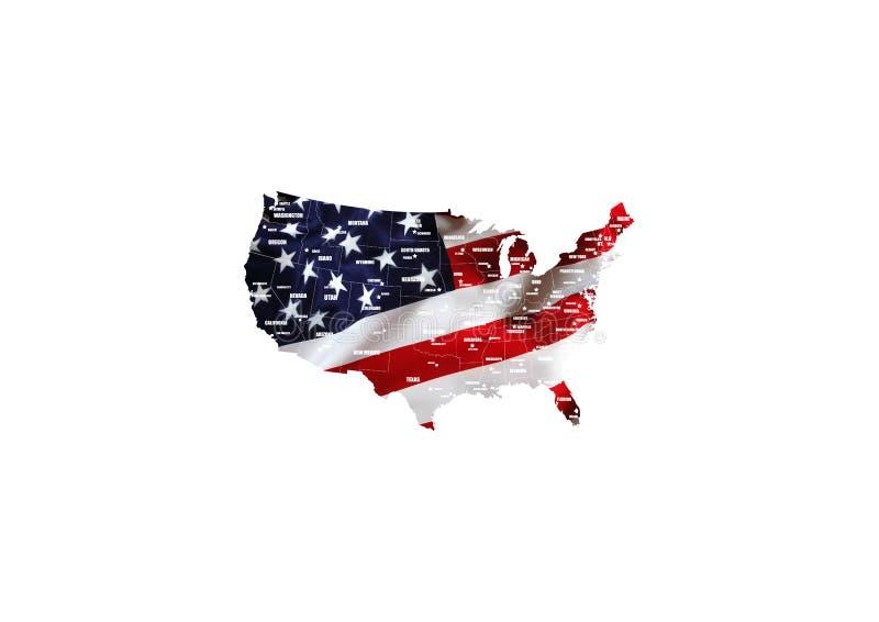 Σημαία των Ηνωμένων Πολιτειών της Αμερικής ΗΠΑ με το υπόβαθρο πυροτεχνημάτων για 4ο του Ιουλίου Ημέρα της ανεξαρτησίας εορτασμού  διανυσματική απεικόνιση