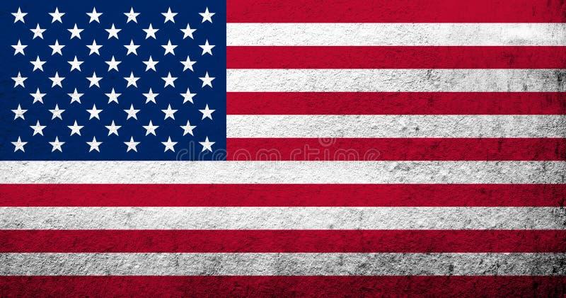 Σημαία των Ηνωμένων Πολιτειών της Αμερικής ΗΠΑ διανυσματική απεικόνιση