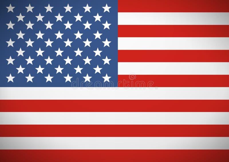 Σημαία των Ηνωμένων Πολιτειών Αμερική ανεξαρτησία ημέρας ανασκόπησης grunge αναδρομική ελεύθερη απεικόνιση δικαιώματος