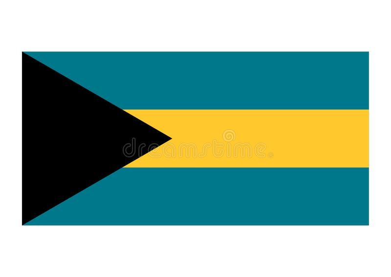 σημαία των Μπαχαμών απεικόνιση αποθεμάτων