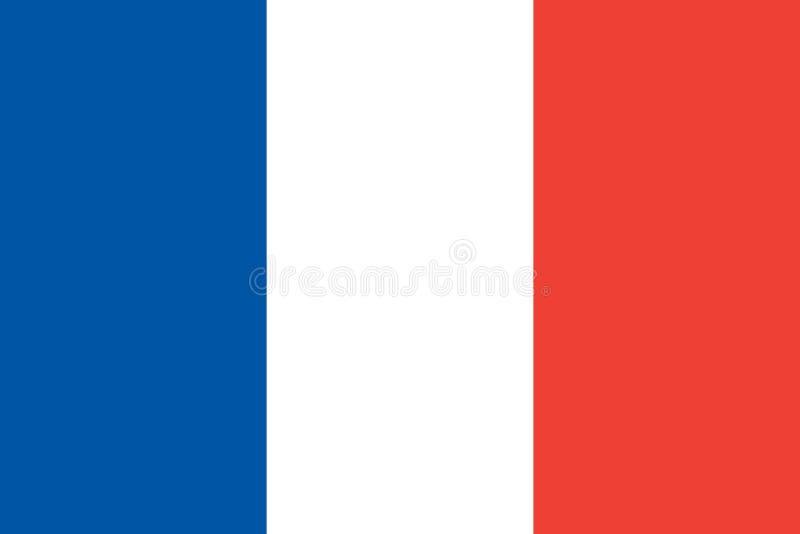 Σημαία των oficial χρωμάτων και των αναλογιών της Γαλλίας ελεύθερη απεικόνιση δικαιώματος