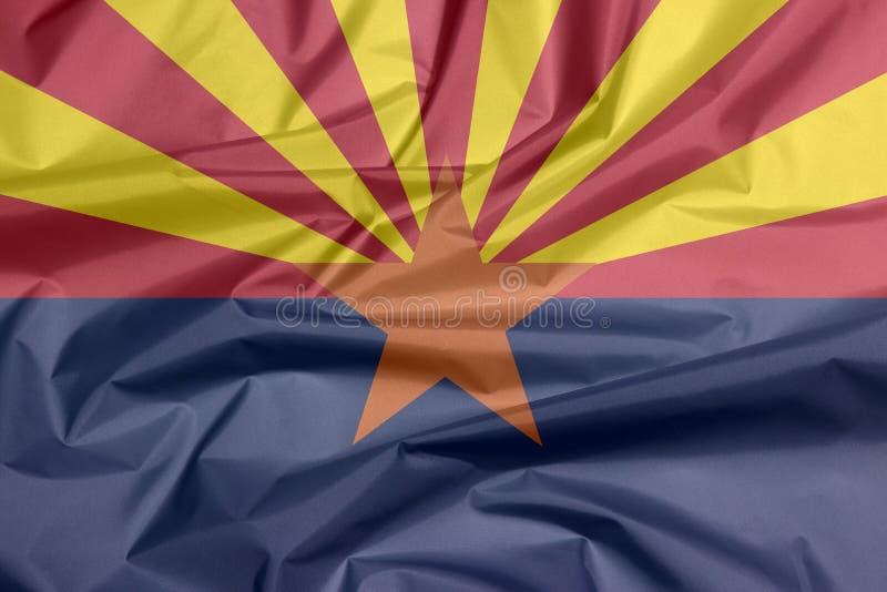Σημαία υφάσματος της Αριζόνα Πτυχή του υποβάθρου σημαιών της Αριζόνα, οι καταστάσεις της Αμερικής ελεύθερη απεικόνιση δικαιώματος