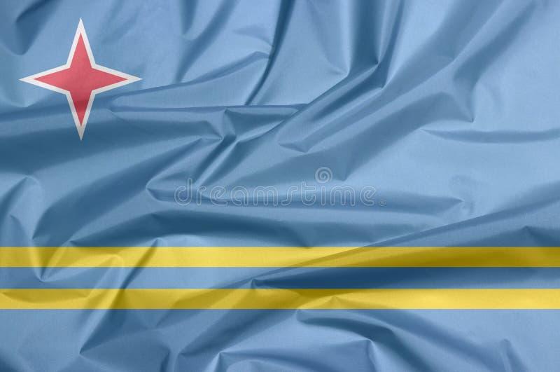 Σημαία υφάσματος της Αρούμπα Πτυχή του υποβάθρου σημαιών της Αρούμπα διανυσματική απεικόνιση