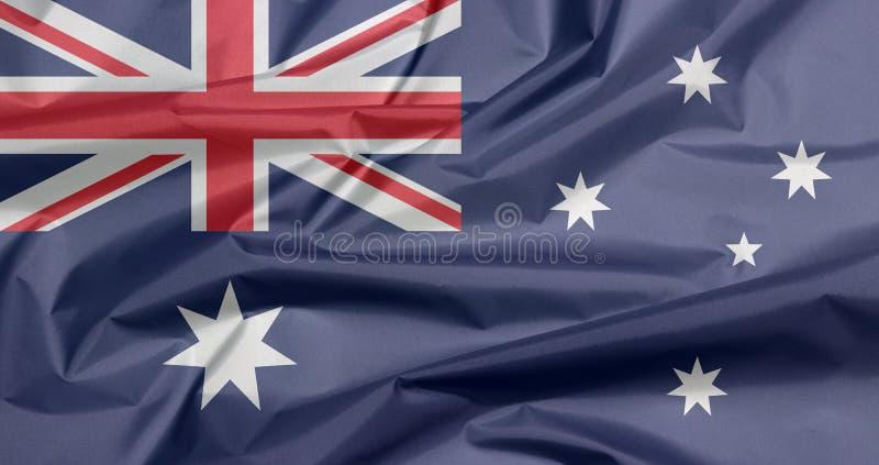 Σημαία υφάσματος της Αυστραλίας Πτυχή του αυστραλιανού υποβάθρου σημαιών διανυσματική απεικόνιση