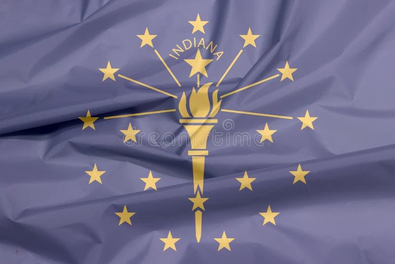 Σημαία υφάσματος της Ιντιάνα Πτυχή του υποβάθρου σημαιών της Ιντιάνα, οι καταστάσεις της Αμερικής απεικόνιση αποθεμάτων