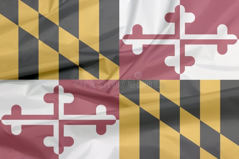 Σημαία υφάσματος της Μέρυλαντ Πτυχή του υποβάθρου σημαιών της Μέρυλαντ, οι καταστάσεις της Αμερικής ελεύθερη απεικόνιση δικαιώματος