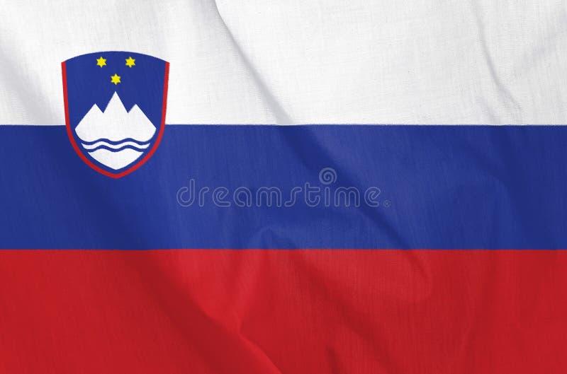 Σημαία υφάσματος της Σλοβενίας στοκ εικόνα