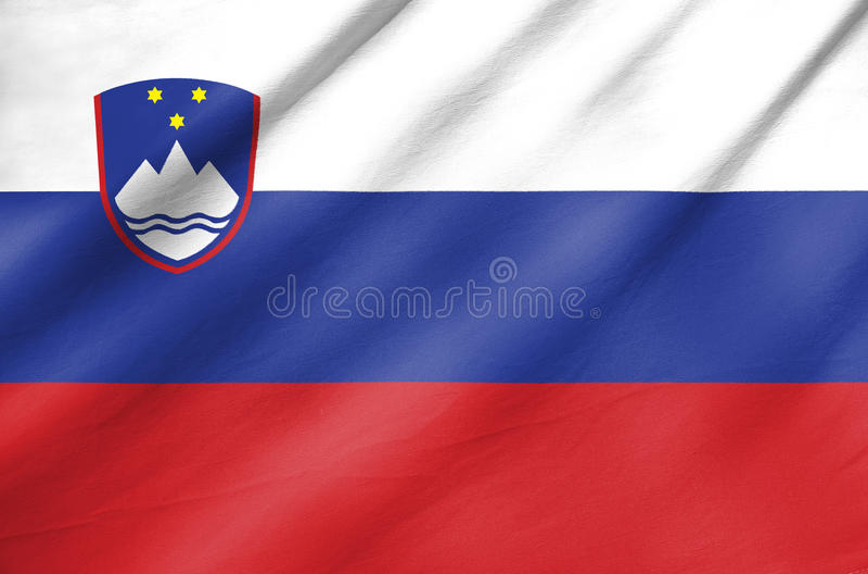 Σημαία υφάσματος της Σλοβενίας στοκ εικόνες