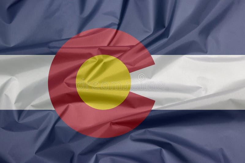 Σημαία υφάσματος του Κολοράντο Πτυχή του υποβάθρου σημαιών του Κολοράντο, οι καταστάσεις της Αμερικής ελεύθερη απεικόνιση δικαιώματος