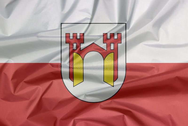 Σημαία υφάσματος Offenburg Η πτυχή του υποβάθρου σημαιών Offenburg, αυτό είναι σε baden-Wurttemberg απεικόνιση αποθεμάτων