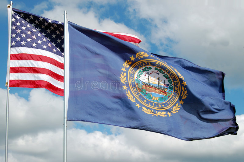 σημαία Χάμπσαϊρ νέο στοκ εικόνες