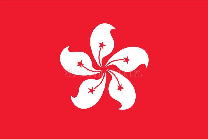 σημαία Χογκ Κογκ απεικόνιση αποθεμάτων
