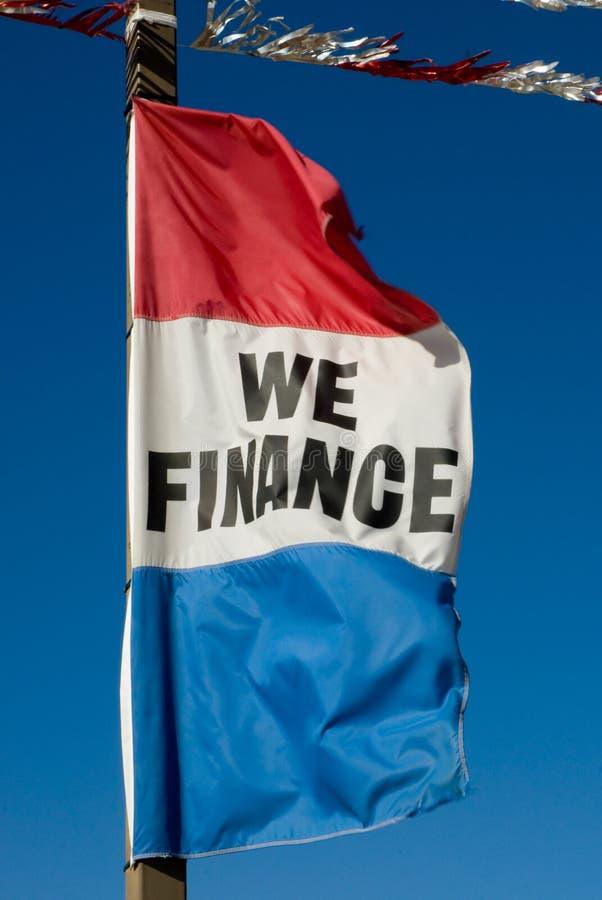 σημαία χρηματοδότησης στοκ φωτογραφία με δικαίωμα ελεύθερης χρήσης