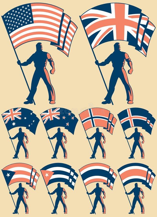 σημαία 2 φορέων απεικόνιση αποθεμάτων