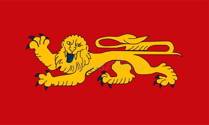 Σημαία Aquitaine ελεύθερη απεικόνιση δικαιώματος