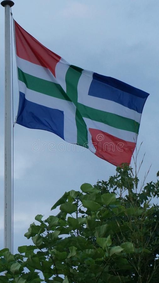 Σημαία Gromingen στοκ εικόνα