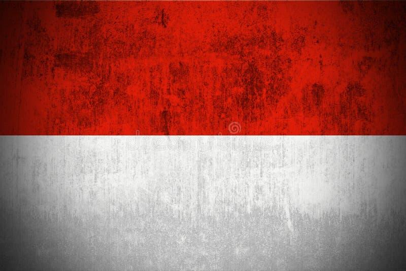 σημαία grunge Μονακό ελεύθερη απεικόνιση δικαιώματος
