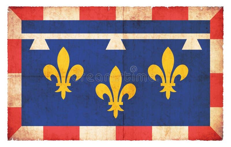 Σημαία Grunge της κέντρο-Val-de-Loire Γαλλία απεικόνιση αποθεμάτων