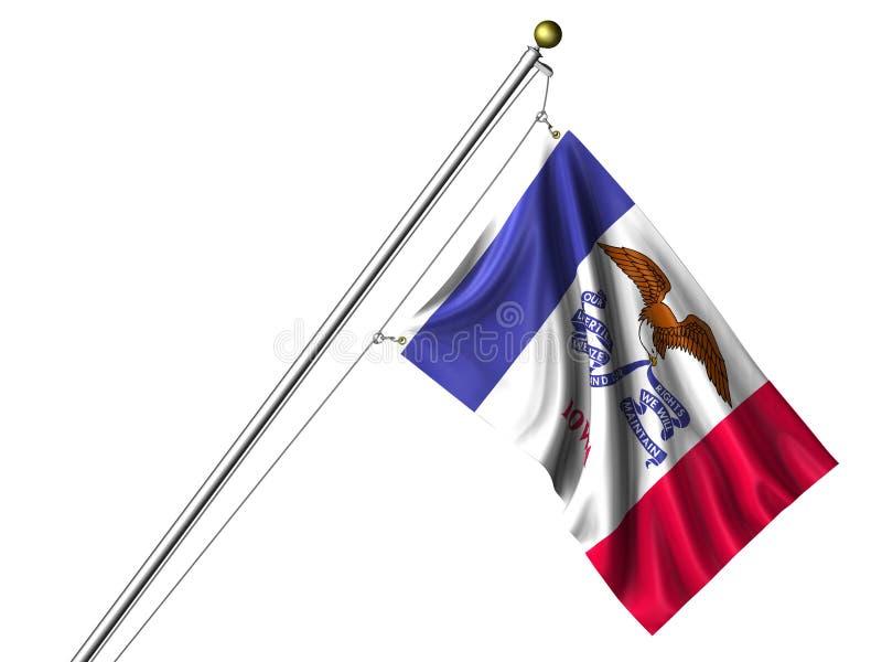σημαία Iowa που απομονώνεται απεικόνιση αποθεμάτων