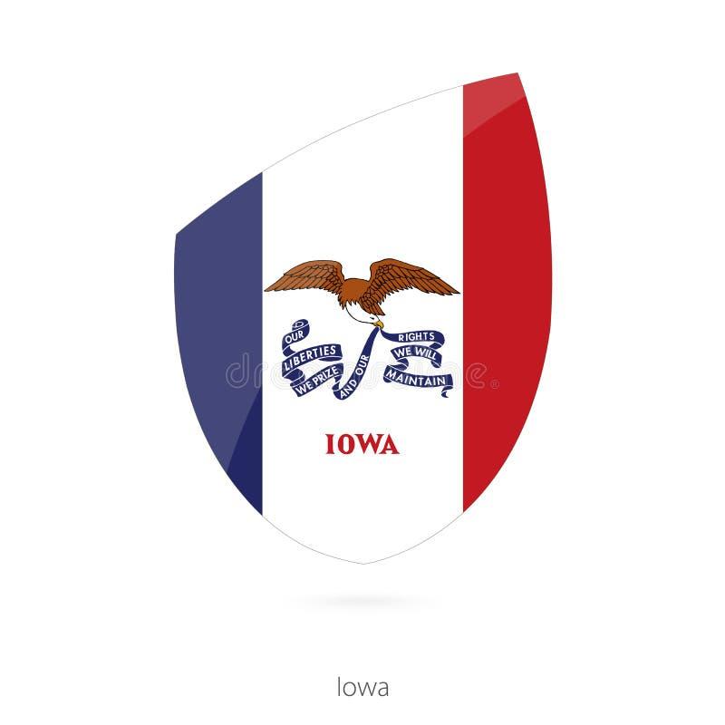 σημαία Iowa απεικόνιση αποθεμάτων