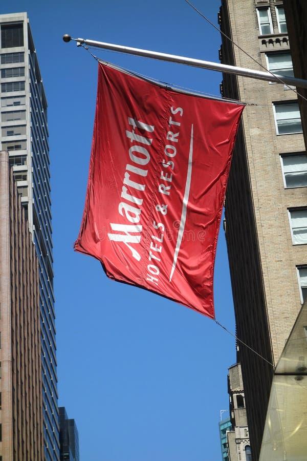 Σημαία Marriott στοκ φωτογραφίες με δικαίωμα ελεύθερης χρήσης