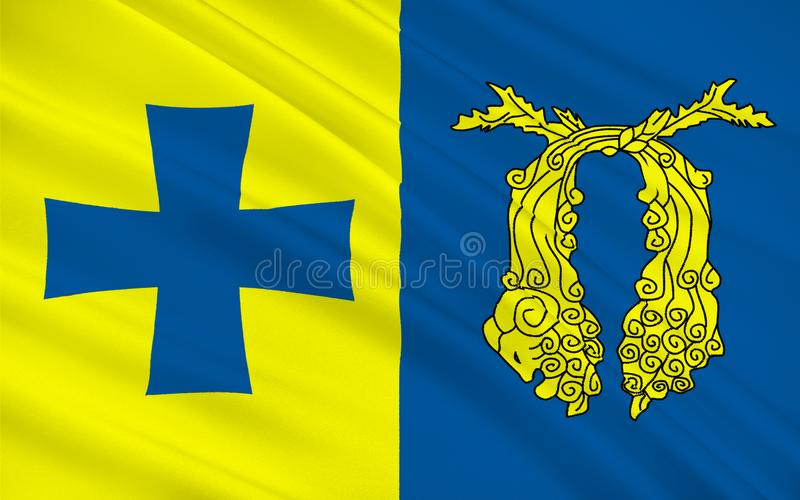 Σημαία Poti, Γεωργία ελεύθερη απεικόνιση δικαιώματος