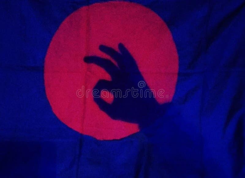 Σημαία Red_mark στοκ φωτογραφία με δικαίωμα ελεύθερης χρήσης