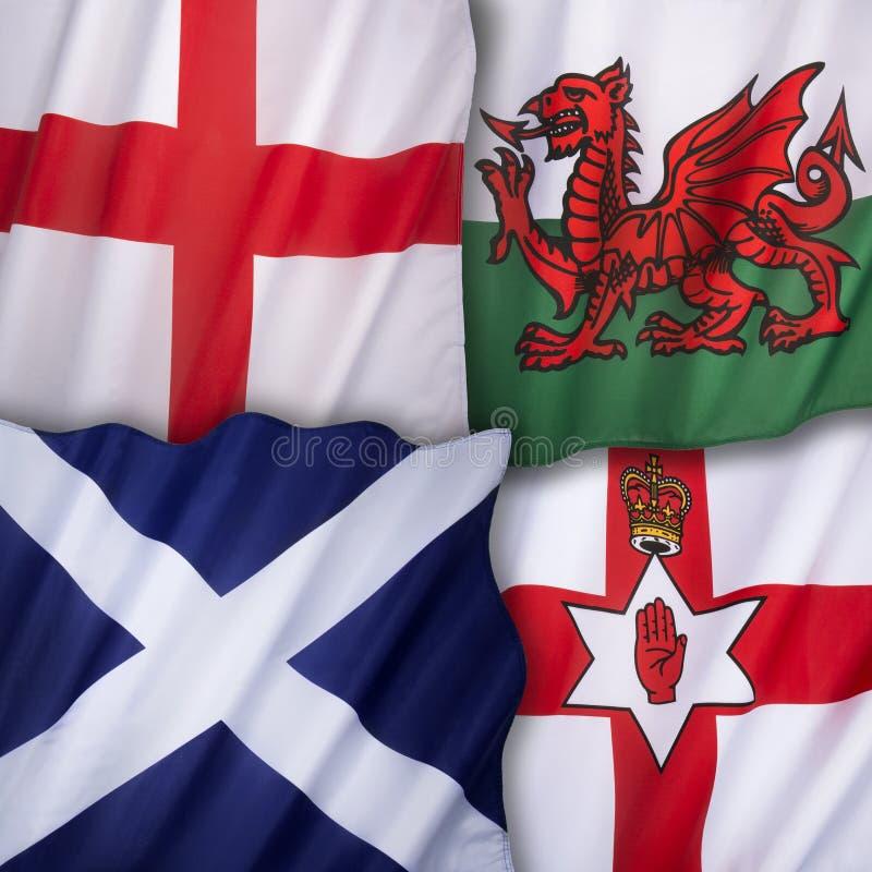 Σημαίες Βασίλειο της Μεγάλης Βρετανίας στοκ εικόνα