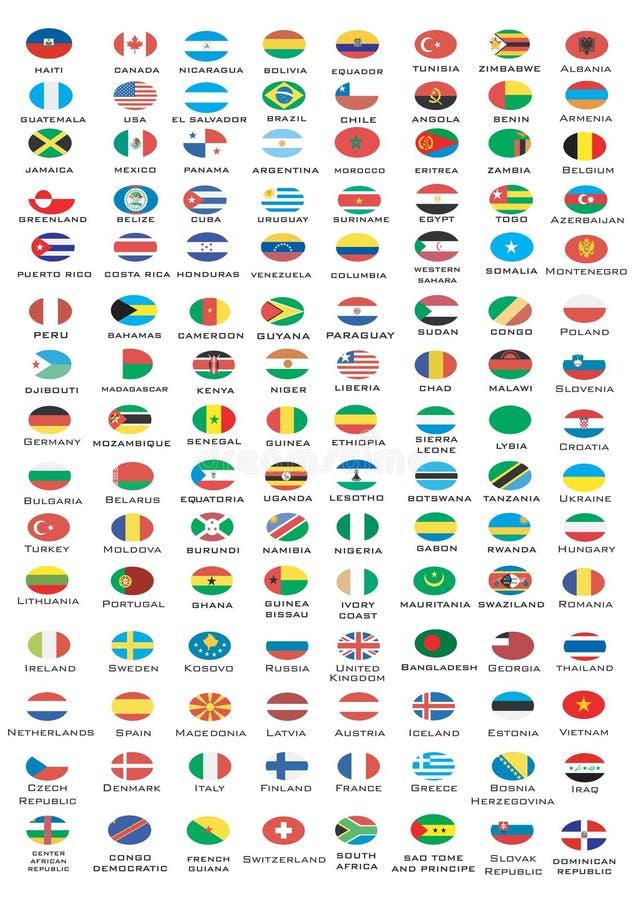 σημαίες εθνικές ελεύθερη απεικόνιση δικαιώματος