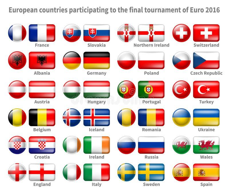Σημαίες εικονιδίων καθορισμένες διανυσματική απεικόνιση