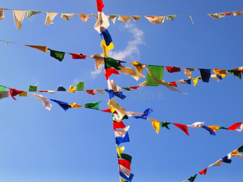 σημαίες Θιβετιανός στοκ εικόνα