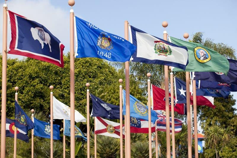 σημαίες μικτές στοκ φωτογραφία