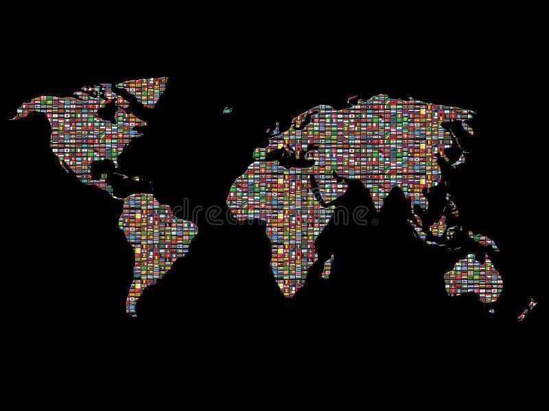 σημαίες πέρα από τον κόσμο διανυσματική απεικόνιση