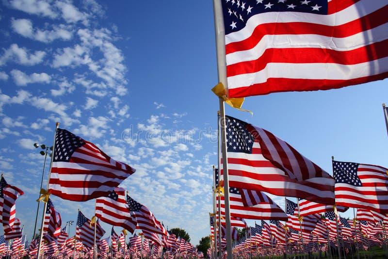 σημαίες πεδίων στοκ φωτογραφίες
