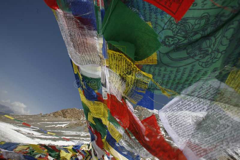 σημαίες που επιπλέουν τον αέρα επίκλησης στοκ φωτογραφία
