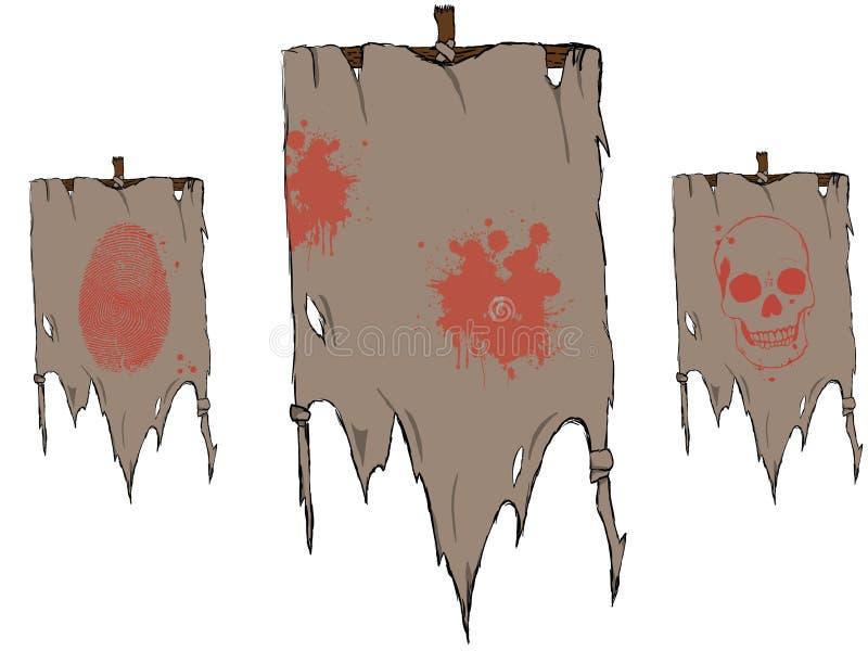 σημαίες που σχίζονται στοκ εικόνες