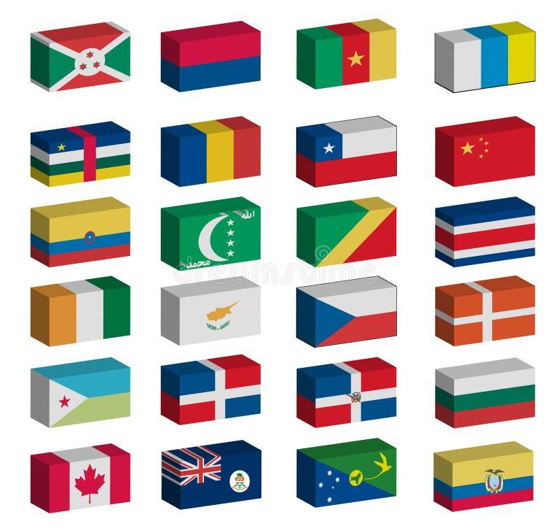 σημαίες που τίθενται τρι&sig απεικόνιση αποθεμάτων