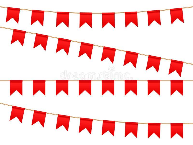 Σημαίες στη γραμμή πλυσίματος απεικόνιση αποθεμάτων